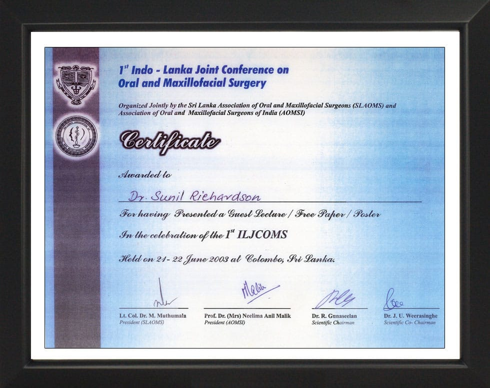 1st Indo- Lanka Joint Conference- Certificate