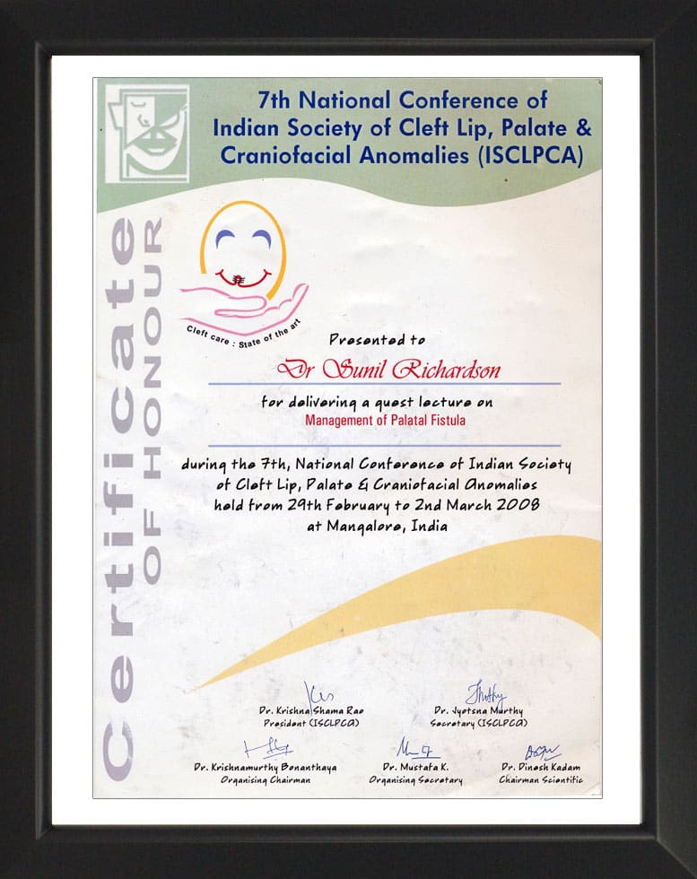 7th National Conference of ISCLPCA- Certificate