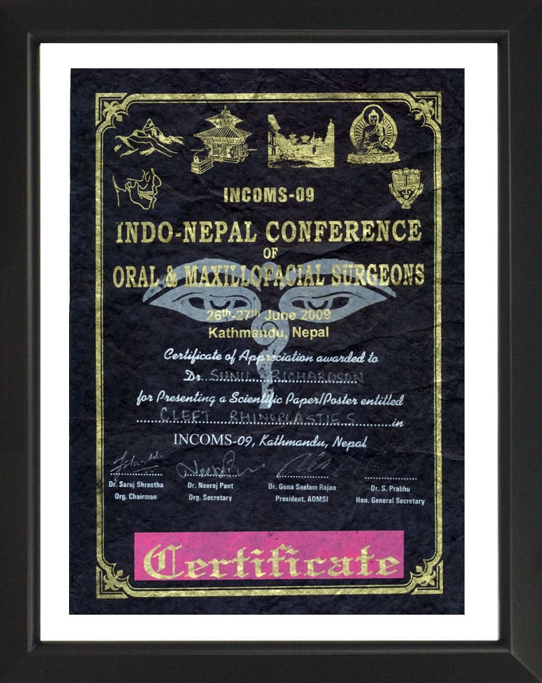 Indo -Nepal Conference-Certificate