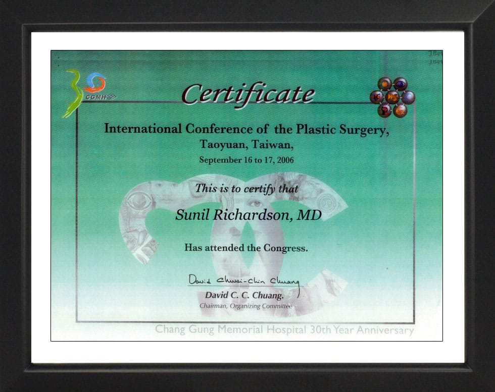 International Conference of the Plastic Surgery-Certificate