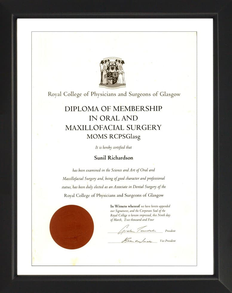 Royal College of Physicians and Surgeons of Glasgow- Certificate