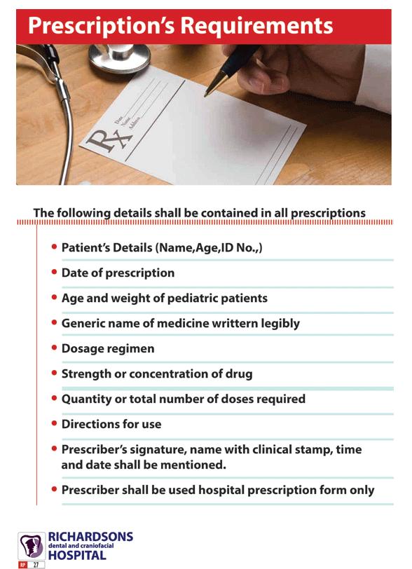 prescription requirements