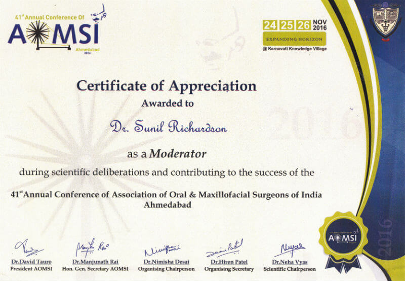 Certificate - Ahmedabad, 2016
