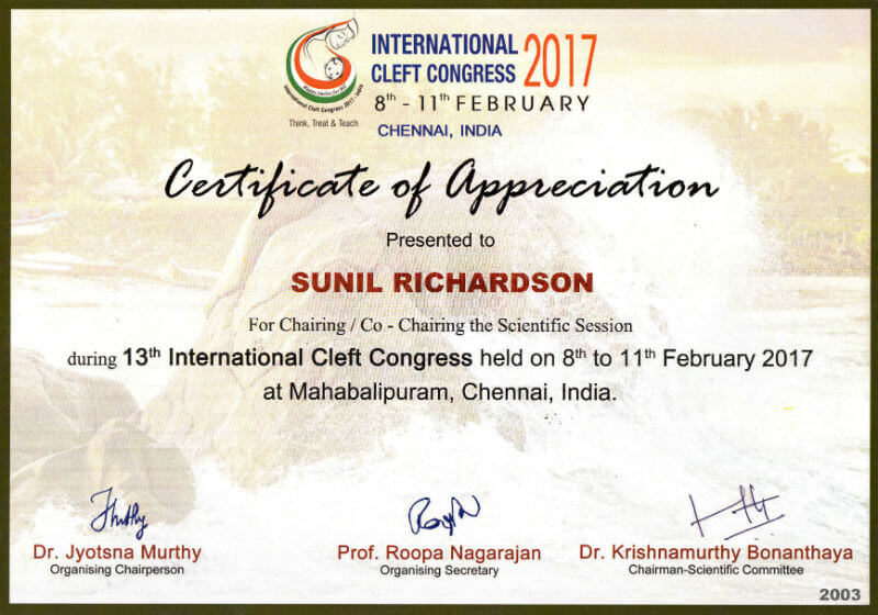 Certificate - Chennai, 2017