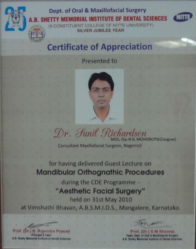 Certificate - Karnataka, 2010