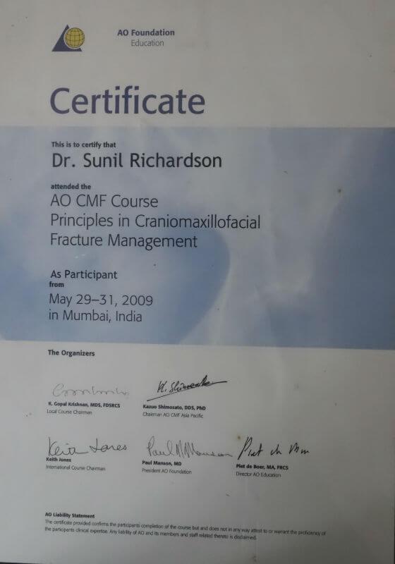 Certificate - Mumbai, 2009