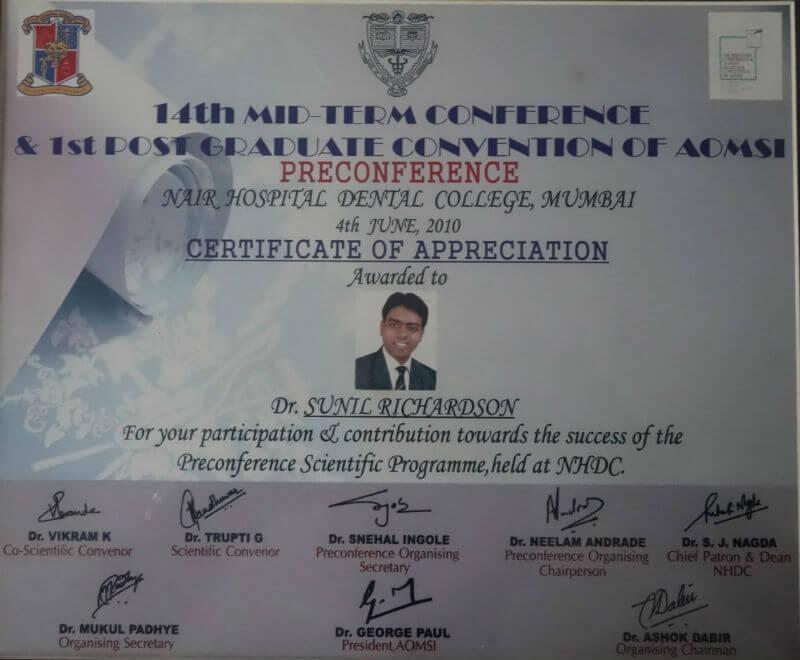 Certificate - Mumbai 2010