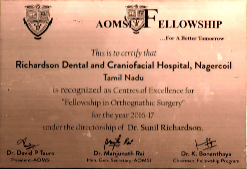 Certificate - Nagercoil, 2016