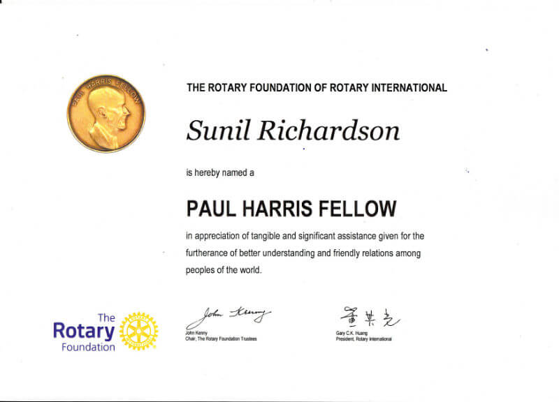 Certificate - Rotary Foundation