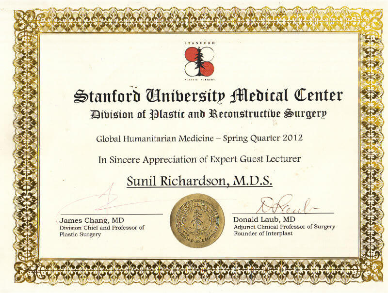 Certificate - Stanford, 2012