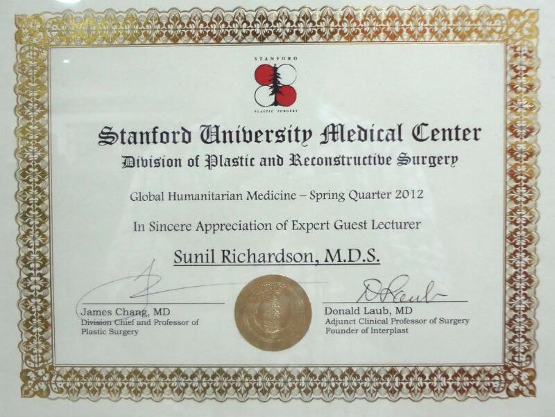 Certificate Stanford university of Medicine - 2012