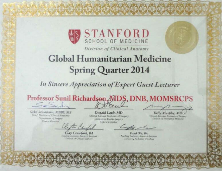 Global Humanitarian Medicine - Spring Quarter 2014