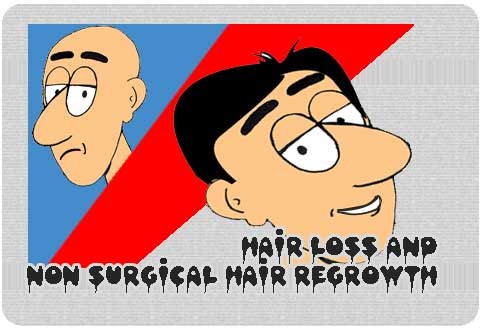 Hair loss and non surgical hair regrowth