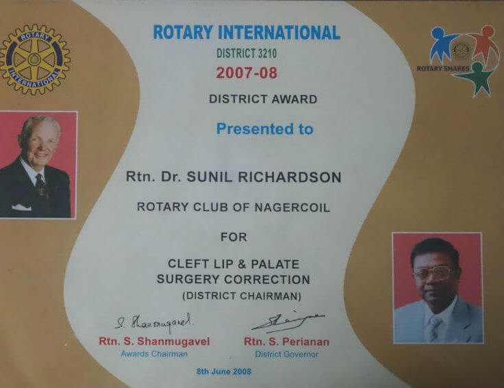 Rotary International District Award