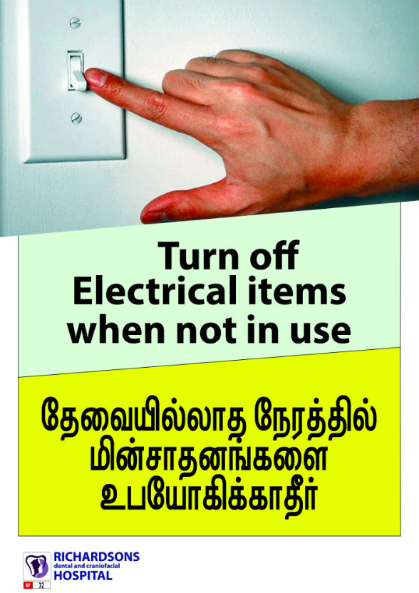 Turn off electrical items