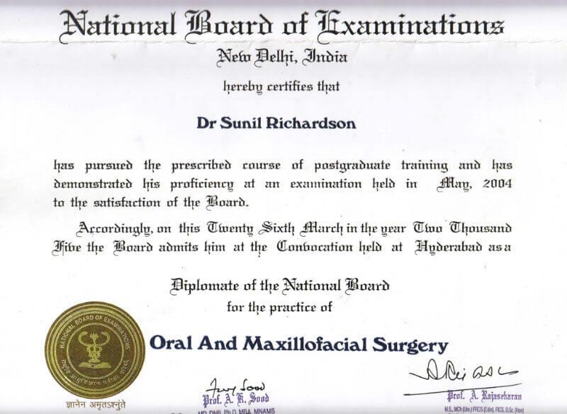 certificate - Hyderabad, 2004