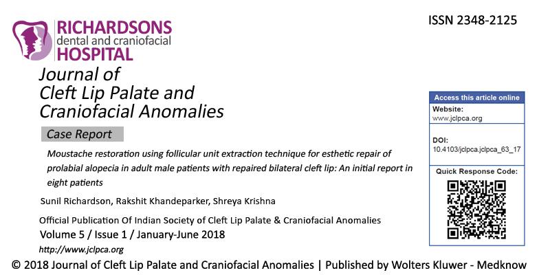 Cleft Lip Palate and Craniofacial Anamalies
