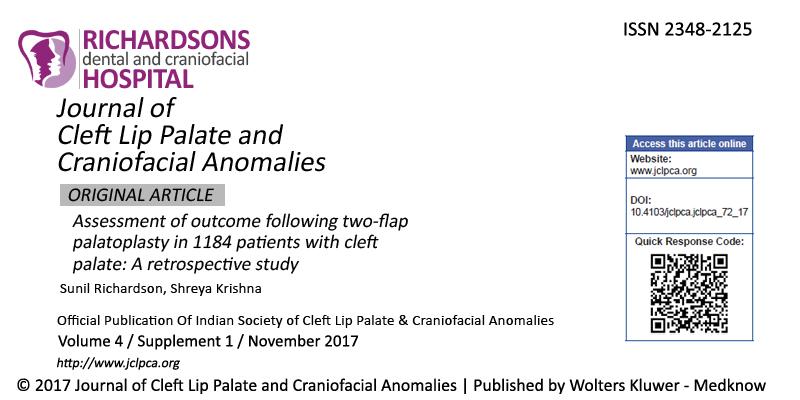 Cleft Lip Palate and Craniofacial Anomalies