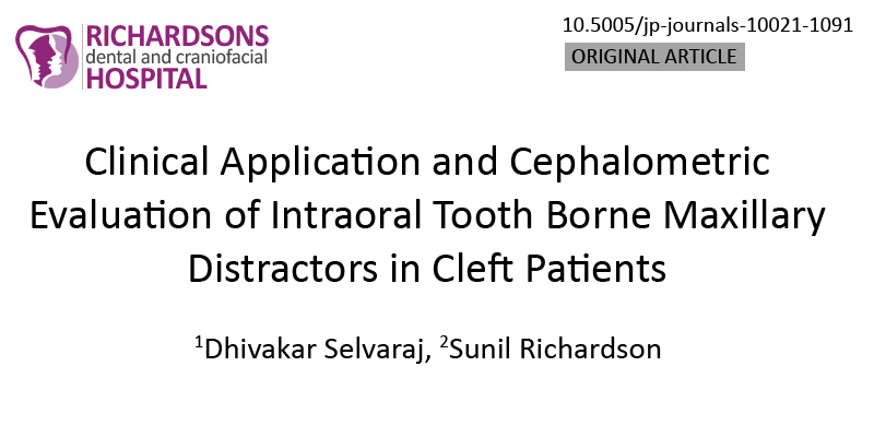 Clinical Application and Cephalometric