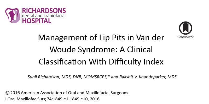 Management of Lip Pits in Van der