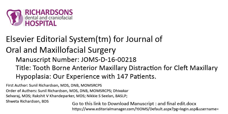Tooth Borne Anterior Maxillary Distraction for Cleft Maxillary